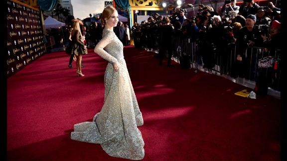 "Actress Lily James was the subject of some negative chatter after photos surfaced of her as a wasp-waisted Cinderella in early 2015. The actress said she is naturally small, and ""I"