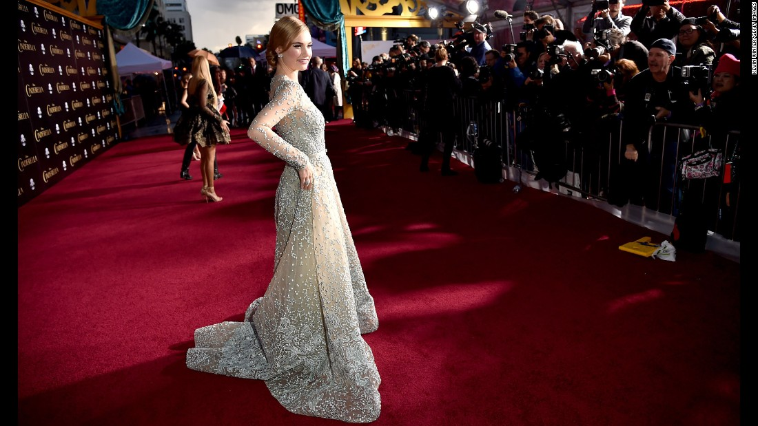 "Actress Lily James was the subject of some negative chatter after photos surfaced of her as a wasp-waisted Cinderella in early 2015. The actress said she is naturally small, and <a href=""http://www.latimes.com/entertainment/movies/moviesnow/la-et-mn-cinderella-lily-james-digitally-altered-waist-20150302-story.html"" target=""_blank"">""I'm so healthy."" </a>"