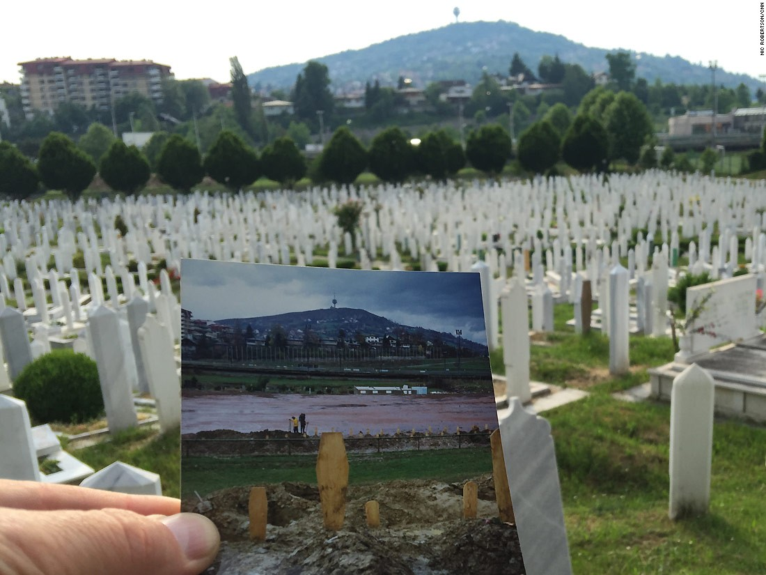 "Lion Cemetery was once a football field. Now it is the resting place of thousands of victims of the siege of Sarajevo, including the city's <a href=""http://edition.cnn.com/2012/04/05/world/europe/bosnia-romeo-juliet/"">""Romeo and Juliet,"" Bosko Brkic and Admira Ismic</a>, who were shot as they tried to cross the Vrbanja Bridge, and died in each other's arms in May 1993. Kurt Schork, the journalist who first told their story, was also buried here after he died on assignment in Sierra Leone in 2000."