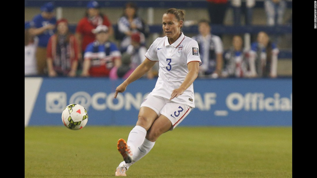Central defender Christie Rampone will turn 40 during the tournament, and she was on the U.S. team when it last won the World Cup in 1999. She has played in four World Cups and four Olympics, winning three gold medals along the way. Only one player -- man or woman -- has played more matches for their country than Rampone: American Kristine Lilly, who retired several years ago.