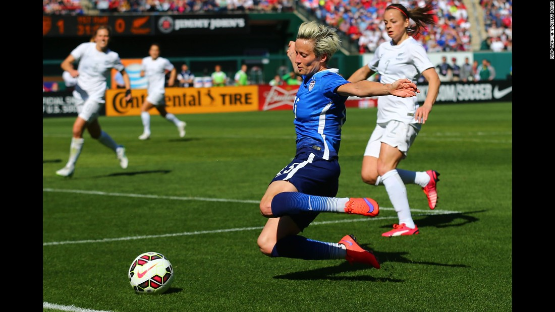 When watching the United States play, it's hard to miss Megan Rapinoe, who stands out on the field with her bright blonde hair and her attacking prowess on the wing. The 29-year-old spark plug can score goals and create them -- her assist to Abby Wambach four years ago saved the United States when it was just moments from being knocked out in the quarterfinals.