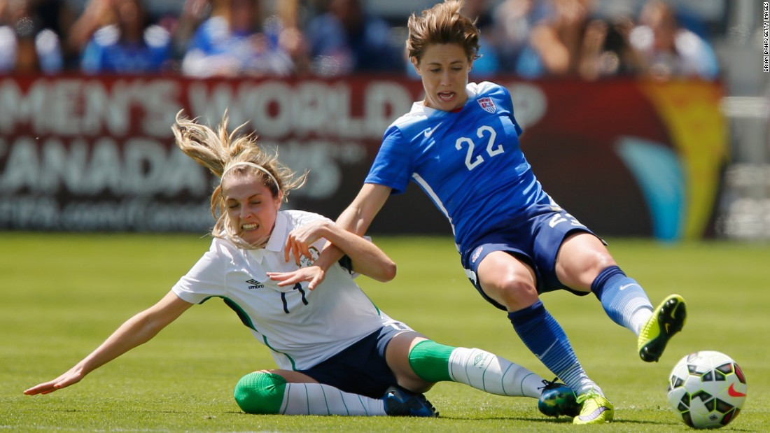 Meghan Klingenberg, right, will likely start on the left side of the U.S. defense, opposite Krieger. This will be the first World Cup for Klingenberg, who like Krieger brings attacking ability to the back line.