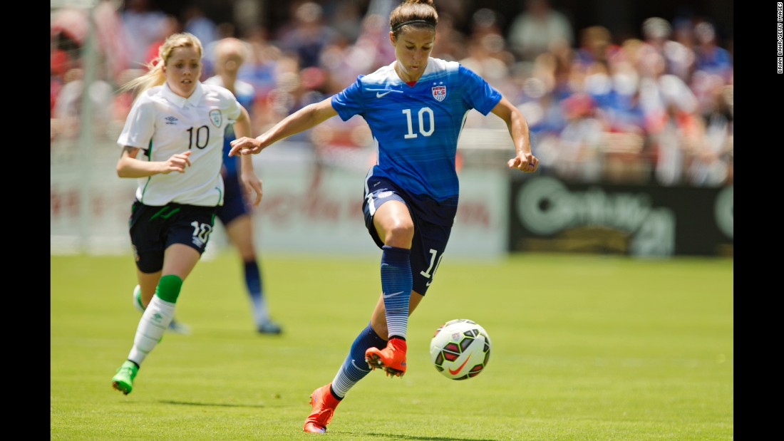 Outside of Wambach, no one on the roster has scored more goals for the United States than Carli Lloyd. Lloyd, a 32-year-old midfielder, has scored 63 goals in 195 appearances. She has played in the last two World Cups and the last two Olympics.