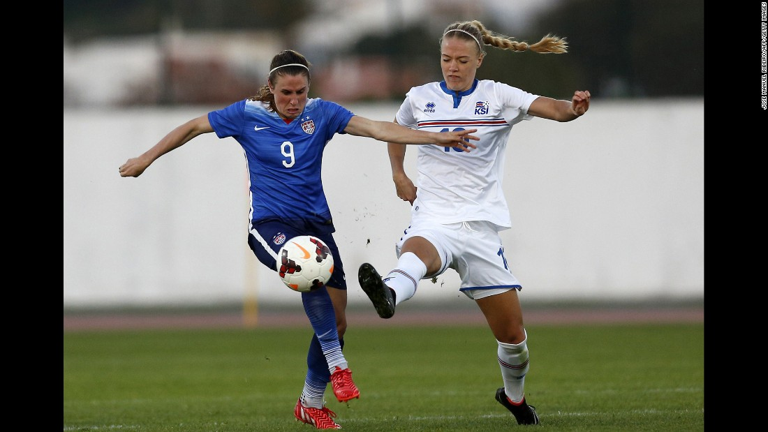 Midfielder Heather O'Reilly, left, is another one of the team's senior players, having appeared in 219 matches since 2002. The 30-year-old has scored 41 international goals, including one at the 2011 World Cup and two at the 2007 World Cup.