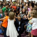 Obama and kids in Manilla