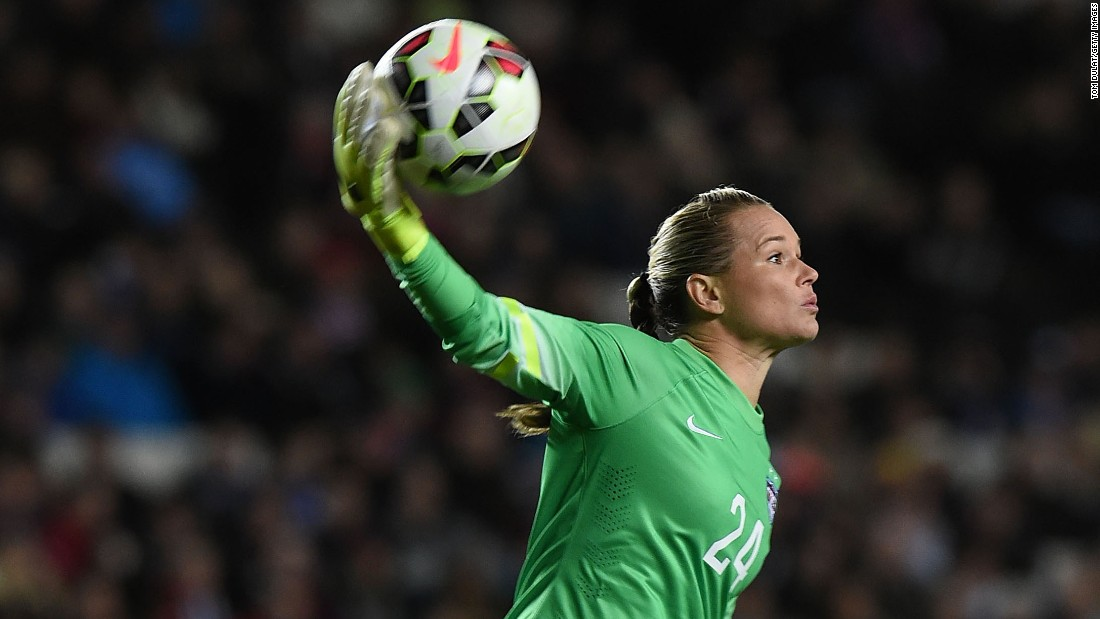 Ashlyn Harris will also back up Solo in goal. She has made six appearances with the U.S. team, and she started two matches earlier this year when Solo was suspended.
