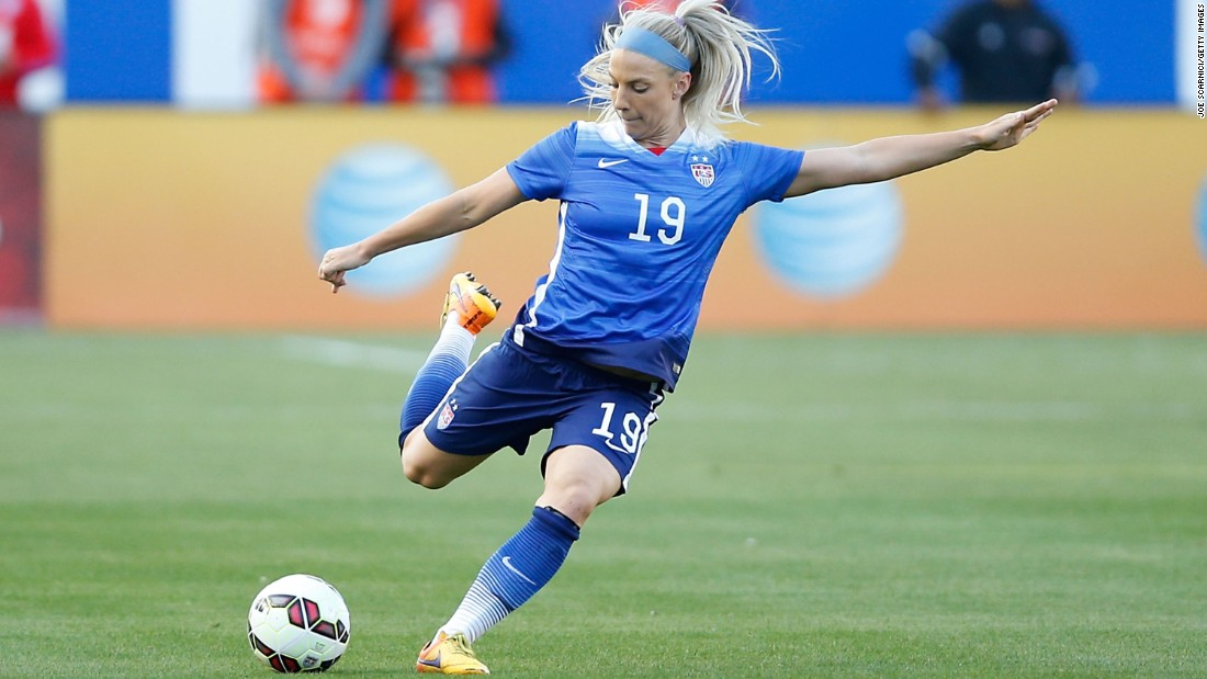 d8a0fcd8f7f Julie Johnston is one of the youngest players on the team at 23
