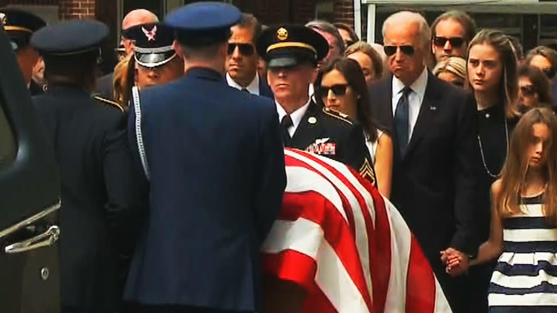 Casket Arrives At Beau Biden Funeral Cnn Video