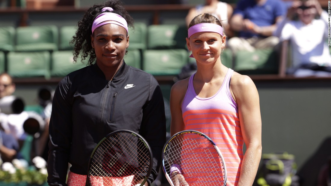 Williams was up against Lucie Safarova of the Czech Republic who was playing in her first grand slam final.