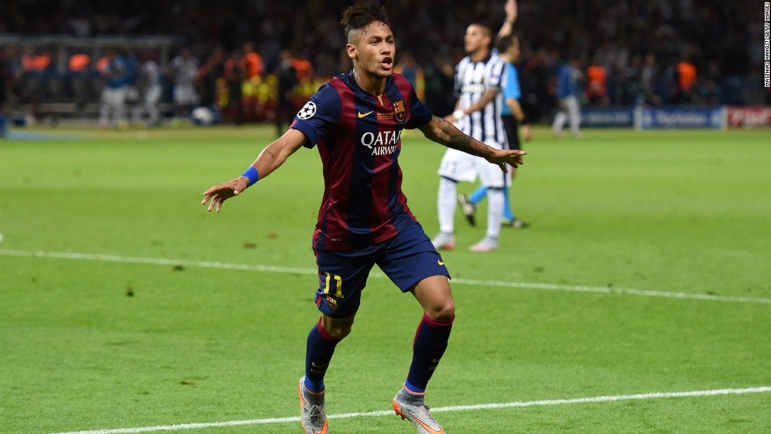 Neymar enjoyed a wonderful season with Barcelona, winning the treble under the guidance of manager Luis Enrique. Neymar scored the third goal in the 3-1 win over Juventus in the Champions League final.