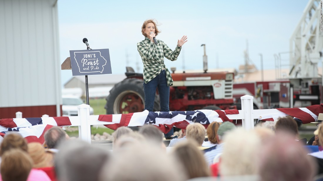 Former business executive Carly Fiorina speaks.
