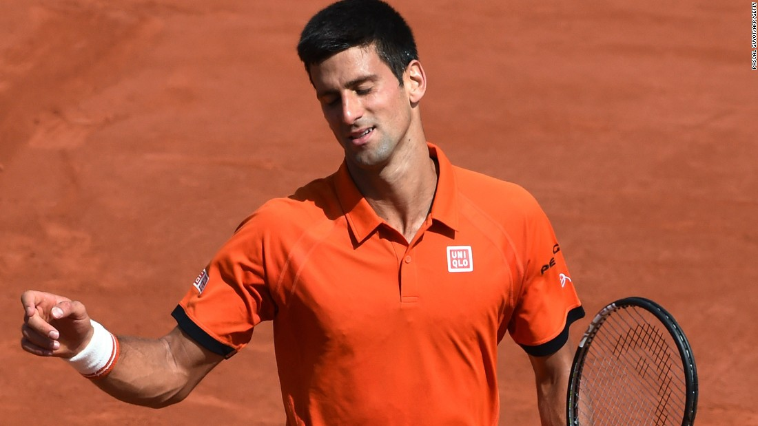 The frustration shows for Djokovic as his usually reliable forehand deserted him and the match swung Wawrinka's way.
