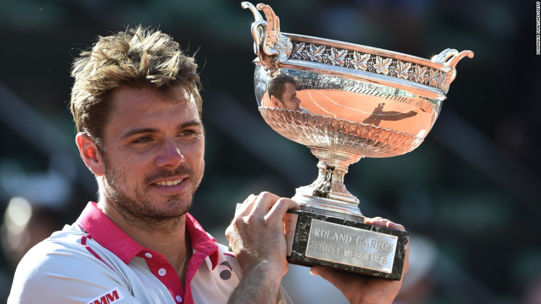 Wawrinka lifts the Coupe des Mousquetaires for the first time as he claims his second grand slam title.