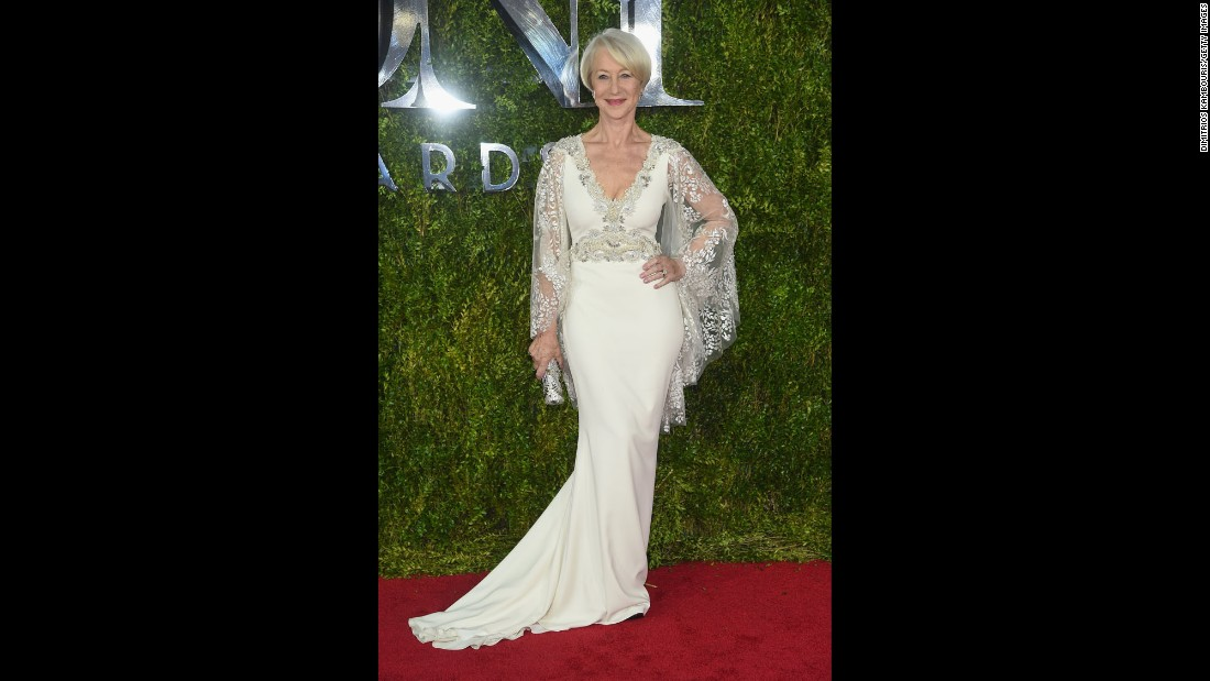 Helen Mirren attends the 2015 Tony Awards at Radio City Music Hall in New York City on Sunday, June 7.  Check out the fashions worn by some of the other attendees: