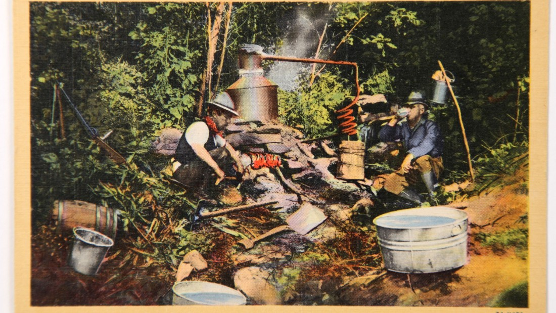 Traditional distillers would pack up their stills and brew the liquor in the woods, with an eye out for the law.