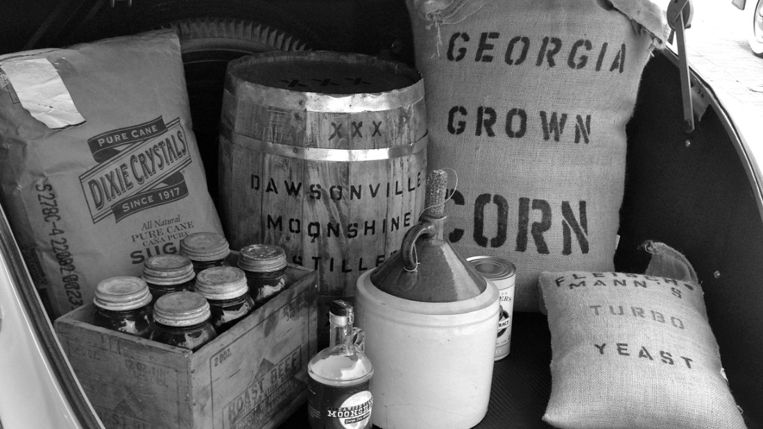 Moonshine is usually derived from corn mash.