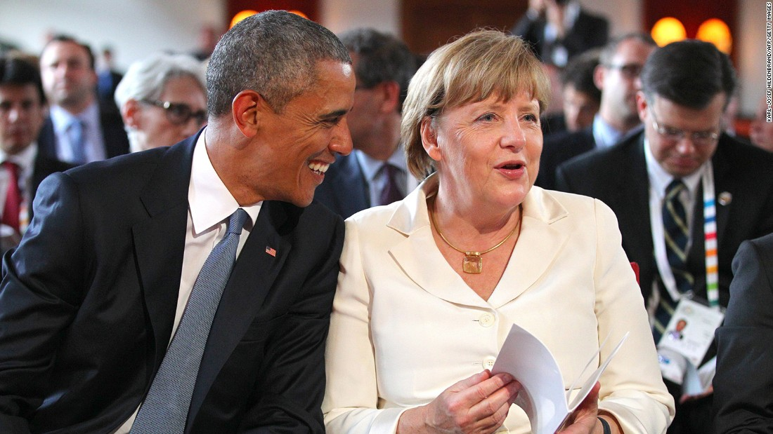Obama and Merkel attend a concert on June 7.