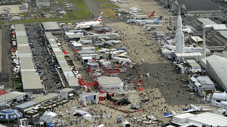 Aerial view of Le Bourget airport, near Paris taken on June 18, 2013 during the 50th International Paris Air show. AFP PHOTO / ERIC FEFERBERG (Photo credit should read ERIC FEFERBERG/AFP/Getty Images)