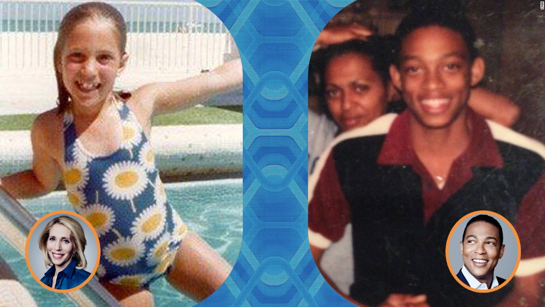 Left: Chief congressional correspondent Dana Bash sports a floral swimsuit at the pool. Right: CNN anchor Don Lemon smiling in 1979. Anyone else see a resemblance to a young Will Smith?