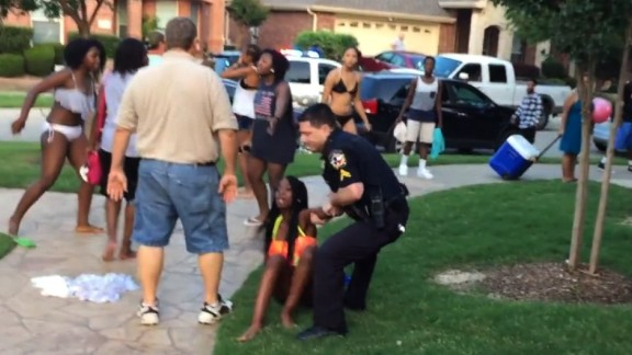 Officer Eric Casebolt resigned on June 9, days after a YouTube video showing his response to reports of fighting at a McKinney, Texas, pool party sparked swift allegations of racism. Critics decried the white officer for cursing at several black teenagers, unholstering and waving his gun at boys and throwing a 14-year-old girl to the ground, his knees pressed down on her back. Casebolt's attorney said race had nothing to do with how the officer responded.