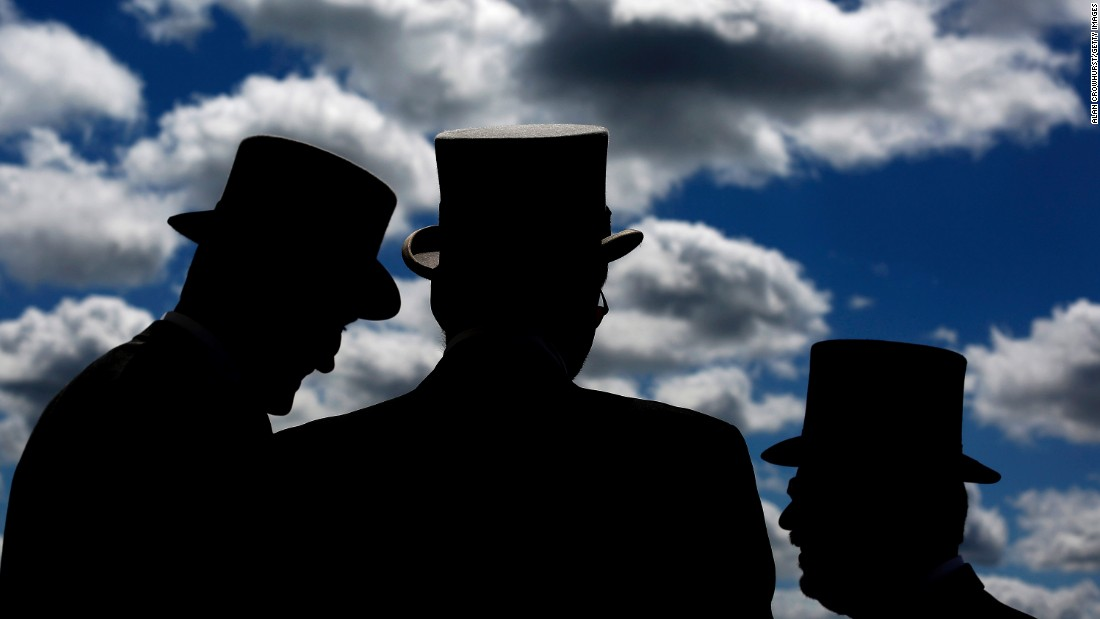 "Men wear top hats Saturday, June 6, at the Epsom racecourse in Epsom, England. <a href=""http://www.cnn.com/2015/06/02/sport/gallery/what-a-shot-sports-0602/index.html"" target=""_blank"">See 39 amazing sports photos from last week</a>"