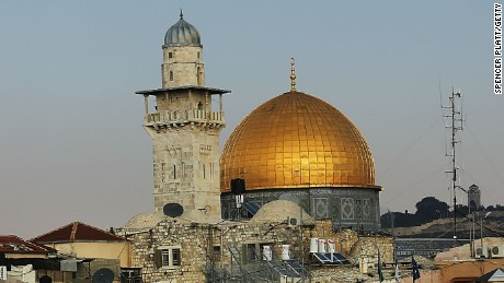 Caption:JERUSALEM, ISRAEL - NOVEMBER 30: The Old City of Jerusalem including the Dome of the Rock is seen on November 30, 2014 in Jerusalem, Israel. Nine Israelis have been killed in a series of stabbings, shootings and hit-and-run attacks in Jerusalem over the past month, unsettling the ancient city of Jerusalem where Jews, Christians and Muslims have lived side by side for thousands of years. The tension and violence on the streets of the city is threatening to further isolate communities and encourage extremist politicians to exploit the situation. (Photo by Spencer Platt/Getty Images)