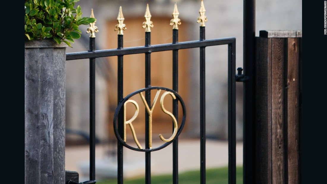 The monogrammed entrance gate to the Royal Yacht Squadron in Cowes, Isle of Wight. The squadron was founded at the Thatched House Tavern in London as The Yacht Club in June 1815 and is holding a series of events to celebrate its bicentenary.