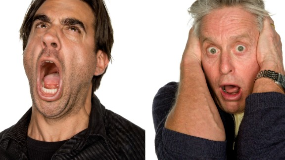 """Bobby Cannavale (left) was told: """"Your girlfriend dumped you months ago, but you obsess and can't let go; you see the silhouette of a man on the window shade of her apartment, and you're yelling up, who the hell is that, that you still love her, how the hell can she do that to you...""""<br />While Michael Douglas was told to imagine: """"You're a 14-year-old girl, opening her older brother's bedroom door and seeing him in bed with a blowup sex doll."""""""