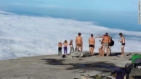 Nude tourists atop mountain blamed for earthquake