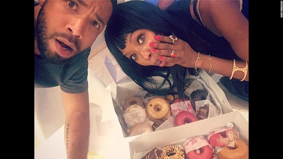 """Yesterday was #NationalDonutDay and @iamnaomicampbell forced me to eat 1 1/4 because she's a Supermodel/actress & Supermodel/Actresses are evil,"" <a href=""https://instagram.com/p/3nBYj2vXoD/?taken-by=jussiesmollett"" target=""_blank"">actor Jussie Smollett said on Instagram</a> on Saturday, June 6."