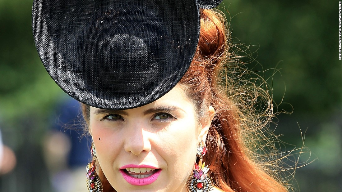 British singer Paloma Faith wears a fascinator -- a style of formal headwear -- which has formed a key part of racetrack fashion over the years.