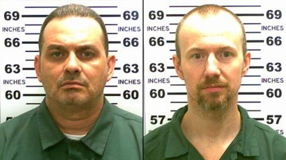 Richard Matt, left, and David Sweat were on the run after they escaped from the Clinton Correctional Facility in Dannemora, New York, on Saturday, June 6. Matt was killed by police on Friday, June 26. Sweat was captured two days later and is now in police custody.