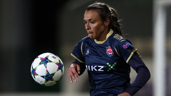 Marta currently plays for FC Rosengard in Sweden. She helped them reach the quarterfinals of the most recent edition of the UEFA Women's Champions League where they were narrowly eliminated by Wolfsburg on away goals.