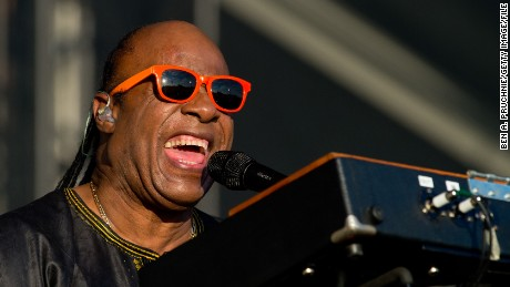 LONDON, ENGLAND - JUNE 29, 2014: Stevie Wonder performs on Day 2 of the Calling Festival at Clapham Common in London, England. (Photo by Ben A. Pruchnie/Getty Images)