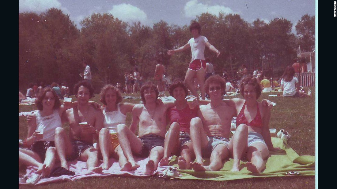 "Was photo-bombing invented here? <a href=""http://ireport.cnn.com/docs/DOC-1244447"">Marjorie Zien</a> relaxed with friends upon graduating high school in 1978 in Albany, New York."