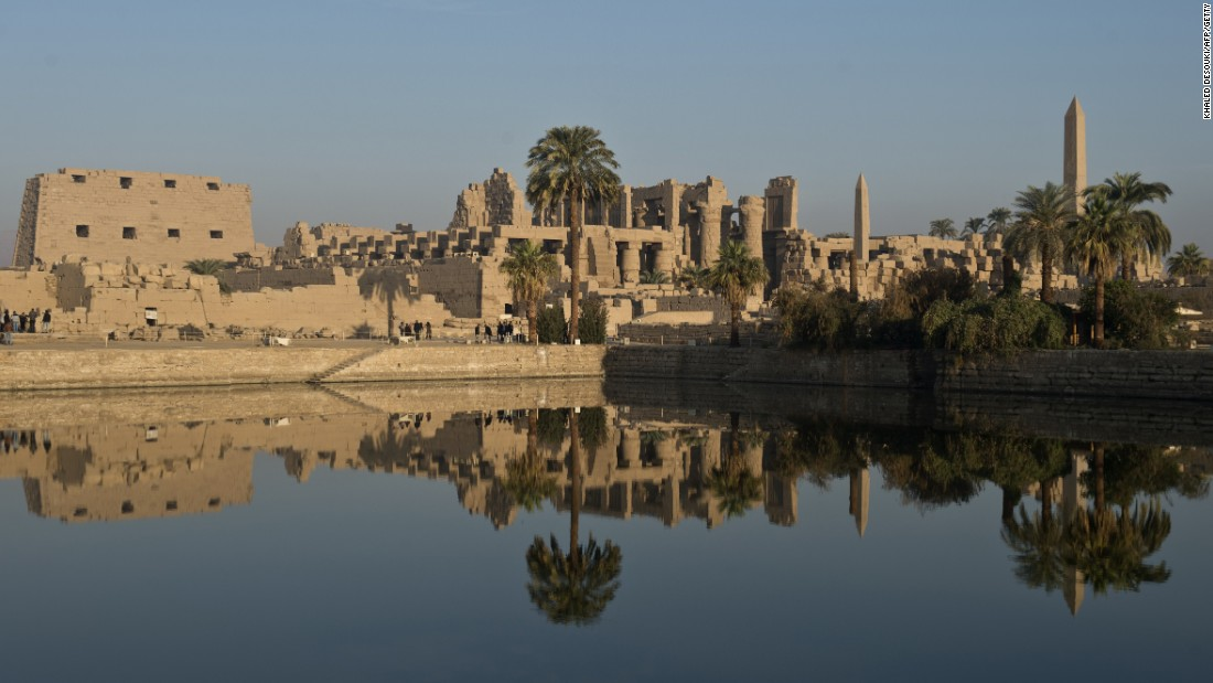 The Temple of Karnak, in the southern Egyptian city of Luxor, can be visited on luxury cruises down the Nile, along which tourists can track 5,000 years of history.