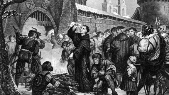 The Protestant Reformation was sparked, in part, by Martin Luther, the German monk pictured below, who was disgusted by the way the church handled money.