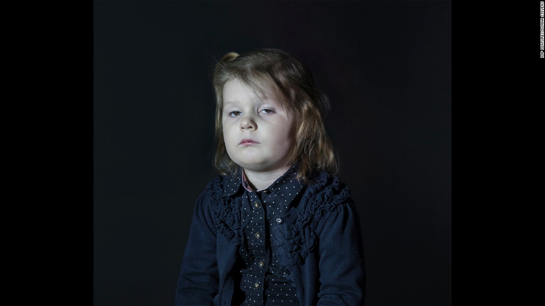 Stevens had permission from all the parents to photograph their children watching TV, and they knew she was exploring the darker side of the medium. The subjects were children from her son's preschool, all of whom she knew to varying degrees.