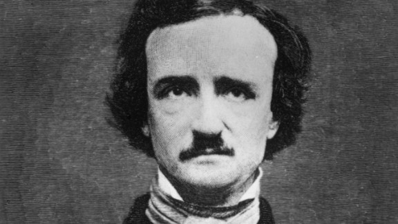 "American poet Edgar Allan Poe (1809-49) also wrote short stories and essays and is widely credited with inventing the modern detective story. A master of dark, spooky atmosphere, he became a sensation after the 1845 publication of his narrative poem ""The Raven."""