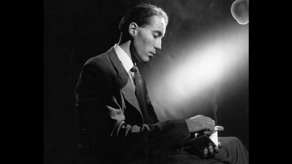 Lee, pictured in 1948, initially made a name for himself in British horror films. His career spanned nearly seven decades.