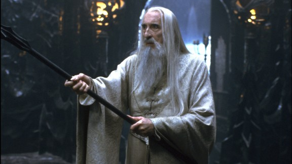 """Lee plays the evil Saruman in 2001's """"The Lord of the Rings: The Fellowship of the Ring."""""""