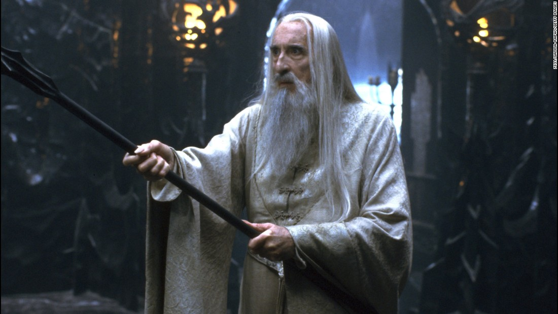 "Lee plays the evil Saruman in 2001's ""The Lord of the Rings: The Fellowship of the Ring."""
