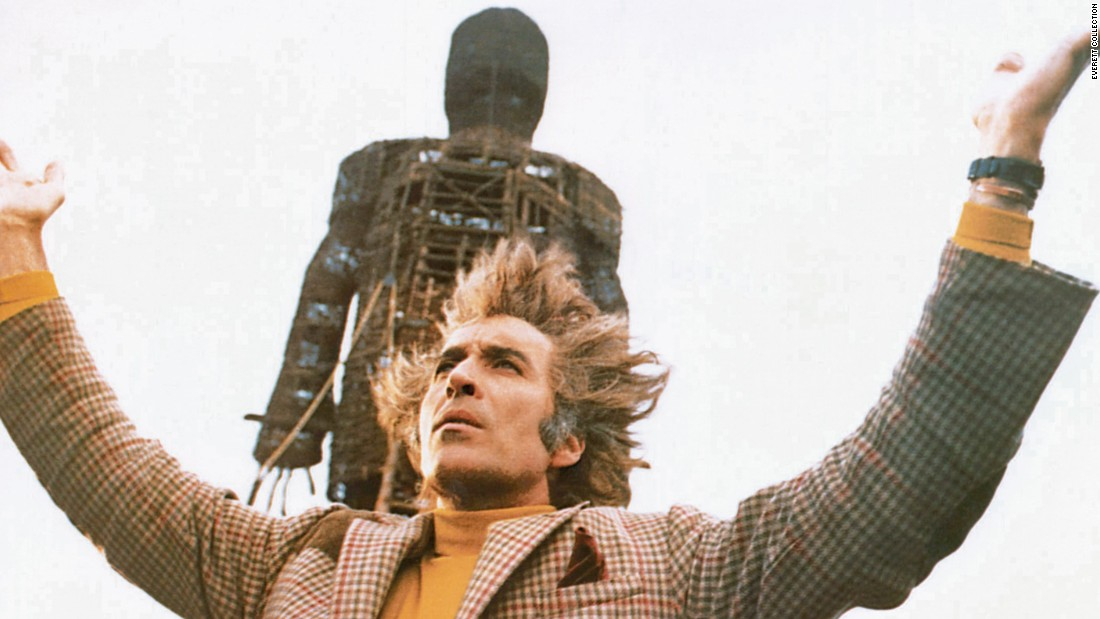 "Lee plays Lord Summerisle in the 1973 horror cult classic ""The Wicker Man."""