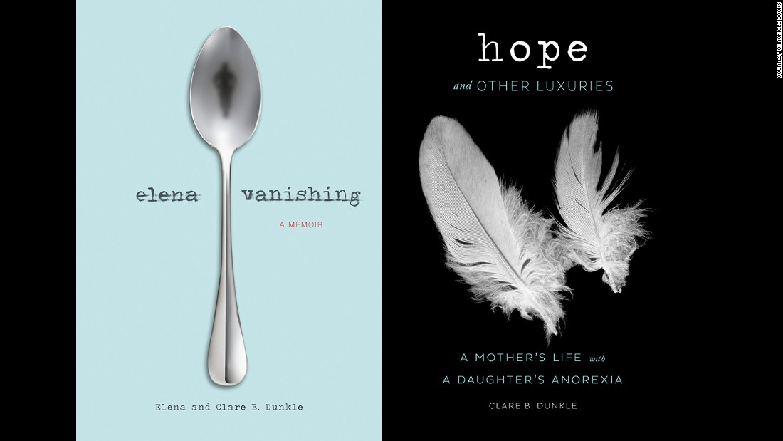 Elena and Clare both wrote books about their experiences and the process behind Elena's descent into anorexia, as well as her recovery, from their own perspectives.