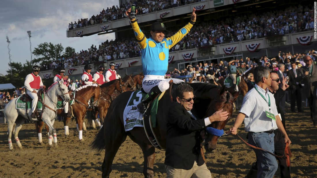 "Jockey Victor Espinoza, aboard American Pharoah, celebrates Saturday, June 6, after <a href=""http://www.cnn.com/2015/06/06/us/gallery/american-pharoah-triple-crown/index.html"" target=""_blank"">winning the Belmont Stakes</a> in Elmont, New York. With the victory, <a href=""http://www.cnn.com/2015/06/01/sport/gallery/american-pharoah/index.html"" target=""_blank"">American Pharoah</a> became the first horse to win the Triple Crown since 1978. <a href=""http://www.cnn.com/2012/06/07/worldsport/gallery/triple-crown-winners/index.html"" target=""_blank"">See all 12 horses who've won the Triple Crown</a>"
