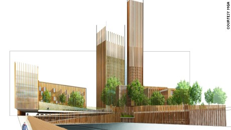 "The ""Baobab"" complex as designed by MGA in conjunction with its design partners in France."