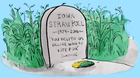 Ding, dong, the Iowa Straw Poll is now dead