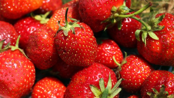 LONDON, ENGLAND - JUNE 28: Strawberries are seen on Day Seven of the Wimbledon Lawn Tennis Championships at the All England Lawn Tennis and Croquet Club on June 28, 2010 in London, England. (Photo by Oli Scarff/Getty Images)