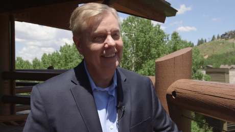 Sen. Lindsey Graham in Park City, Utah on June 12, 2015.