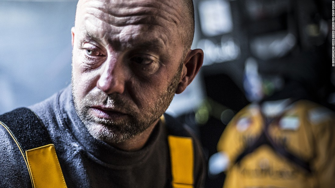 Life on the ocean wave is a tale of the unexpected for Abu Dhabi Ocean Racing (ADOR) skipper Ian Walker, seen here on board his Azzam yacht during the 2014/15 Volvo Ocean Race.